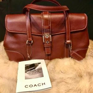 Coach '04 Vintage Hamptons Burgundy Leather 9267